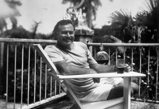 Ernest Hemingway at the Finca Vigia, Cuba, 1946