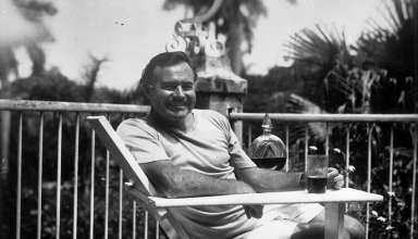 Ernest Hemingway at the Finca Vigia, Cuba, 1946