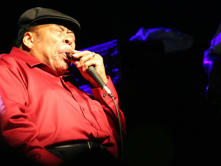 James Cotton at the Hondarribia Blues Festival, July 2008