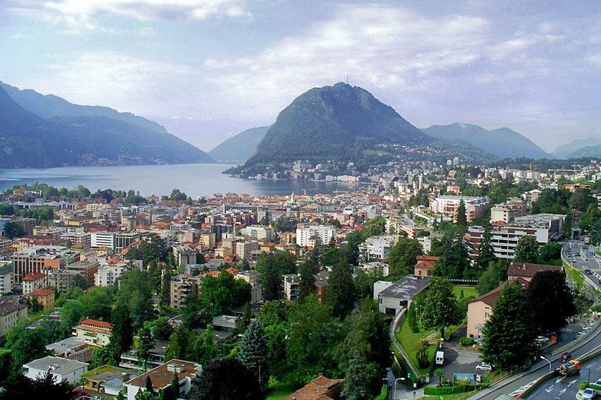 Lake Lugano and Monte San Salvatore