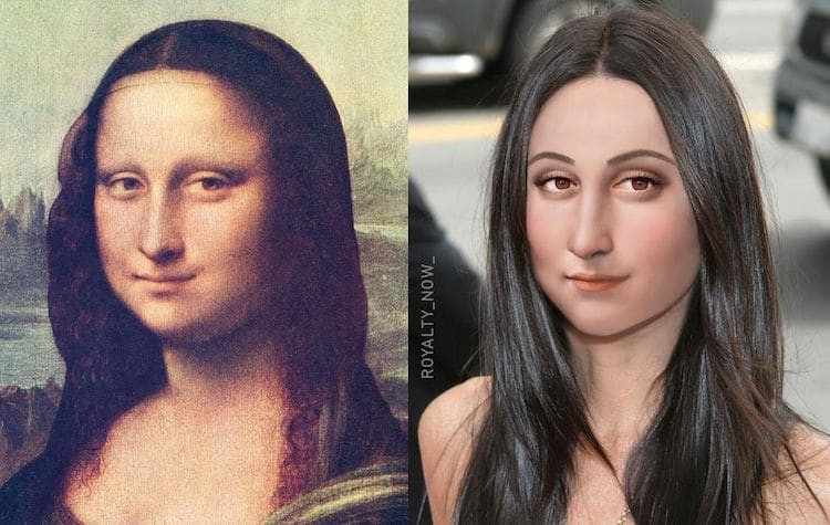 Mona Lisa digitally reimagined by Becca Saladin