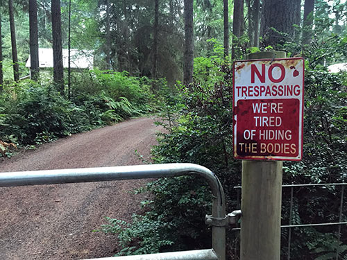 Parting Shots: No Trespassing