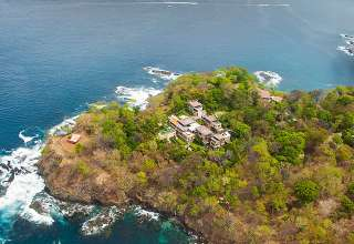 aerial views of the Papagayo Peninsula, Costa Rica, showing Villa Manzu