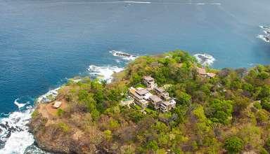 aerial views of the Papagayo Peninsula, Costa Rica, showing Villa Manzu