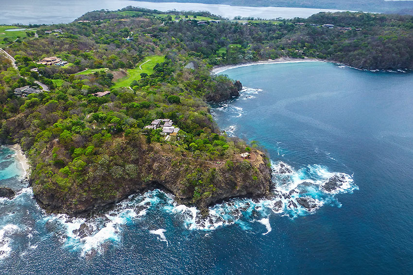 Aerial views of the Papagayo Peninsula, on the northwest corner of Costa Rica, reveal the 30,000 square-foot mansion, the Villa Manzu, is splendid isolation, alone on five green acres, Villa Manzu, Costa Rica