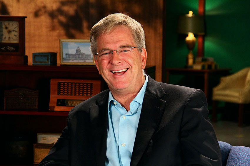 Rick Steves on the set of On The Record OETA