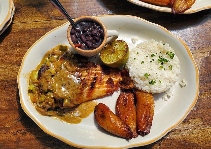 Salmon a la Parrilla from Habana restaurant