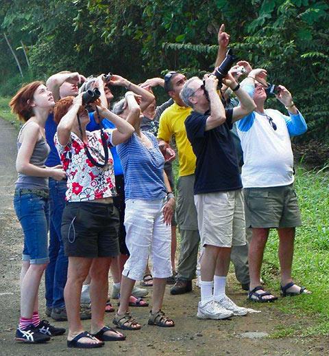 tourists at Monteverde