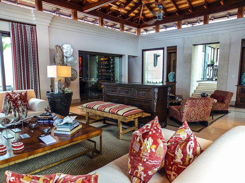 design and décor at Villa Manzu interior