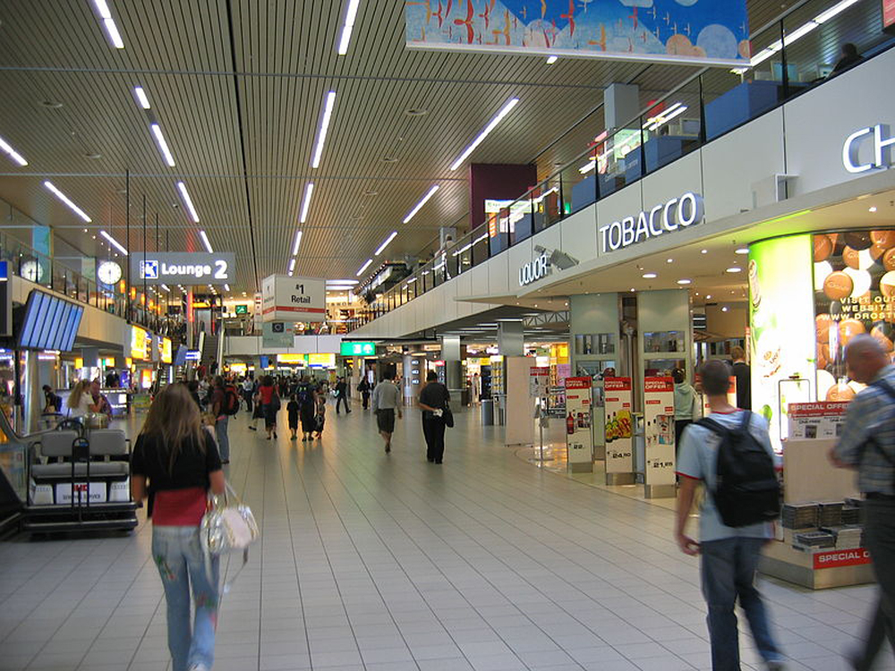 Schiphol Airport. Courtesy Wikimedia Commons